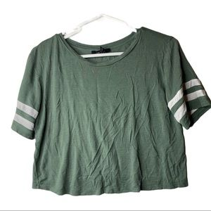 4/$25 | Forever 21 | green crop top sz small
